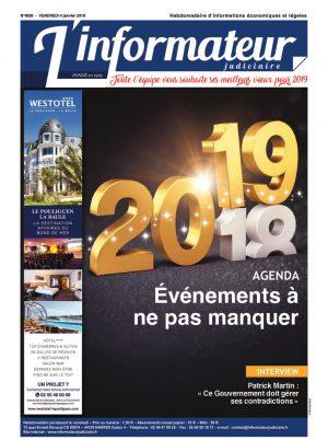 Couverture du journal du 04/01/2019