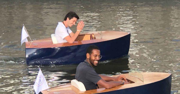Illustration de l'article Ils inventent un mini bateau électrique