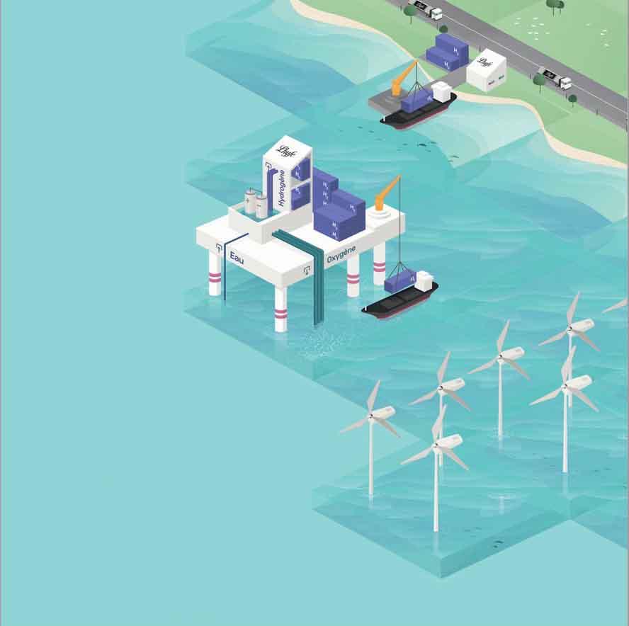 Le projet de plateforme offshore de Lhyfe