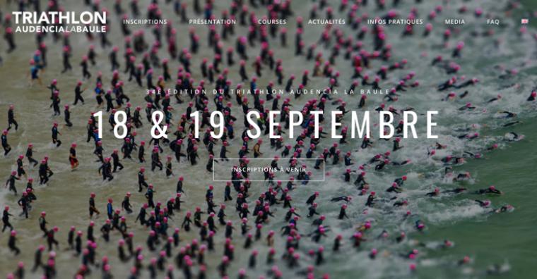 Illustration de l'article Triathlon Audencia – La Baule : pas de compétition cette année mais un site Internet à l'image de son développement