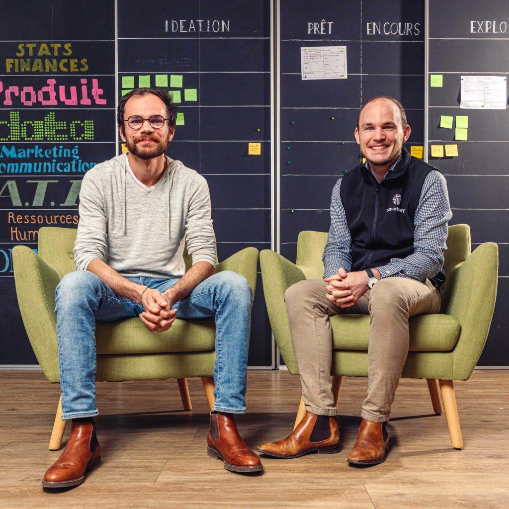Paul-Adrien et Christophe Menez de Smartway