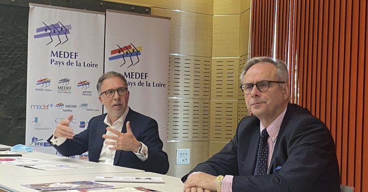 Samuel Tual, président du Medef Pays de la Loire et Bertrand Schaupp, président de la commission Attractivité des territoires